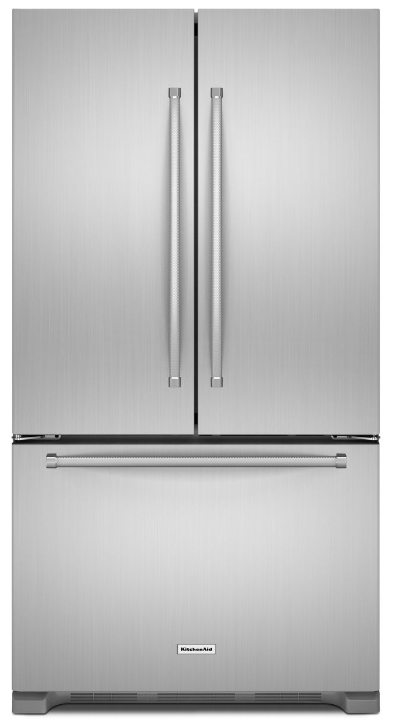 KitchenAid® 20.0 Cu. Ft. Counter Depth French Door Refrigerator Stainless  Steel  ...