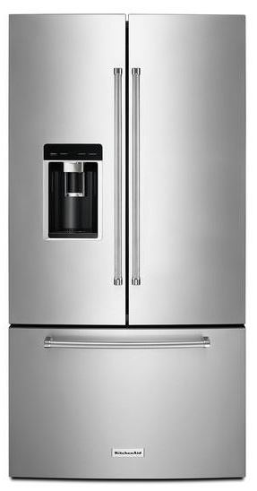 Kitchenaid 23 8 Cu Ft Counter Depth French Door Refrigerator Stainless Steel