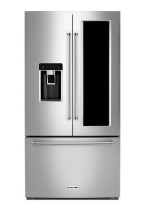 KitchenAid® 23.5 Cu. Ft. Counter Depth French Door Refrigerator Black  Stainless