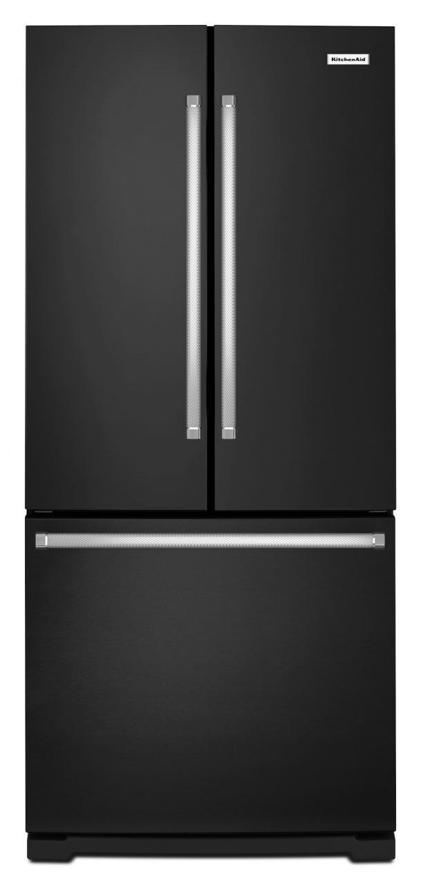 KitchenAid® 20.0 Cu. Ft. French Door Bottom Freezer Refrigerator  Black KRFF300EBL