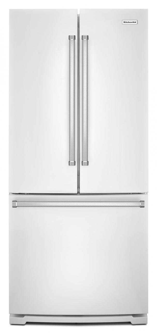 French door refrigerator kitchenaid 200 cu ft french door bottom freezer refrigerator white krff300ewh rubansaba