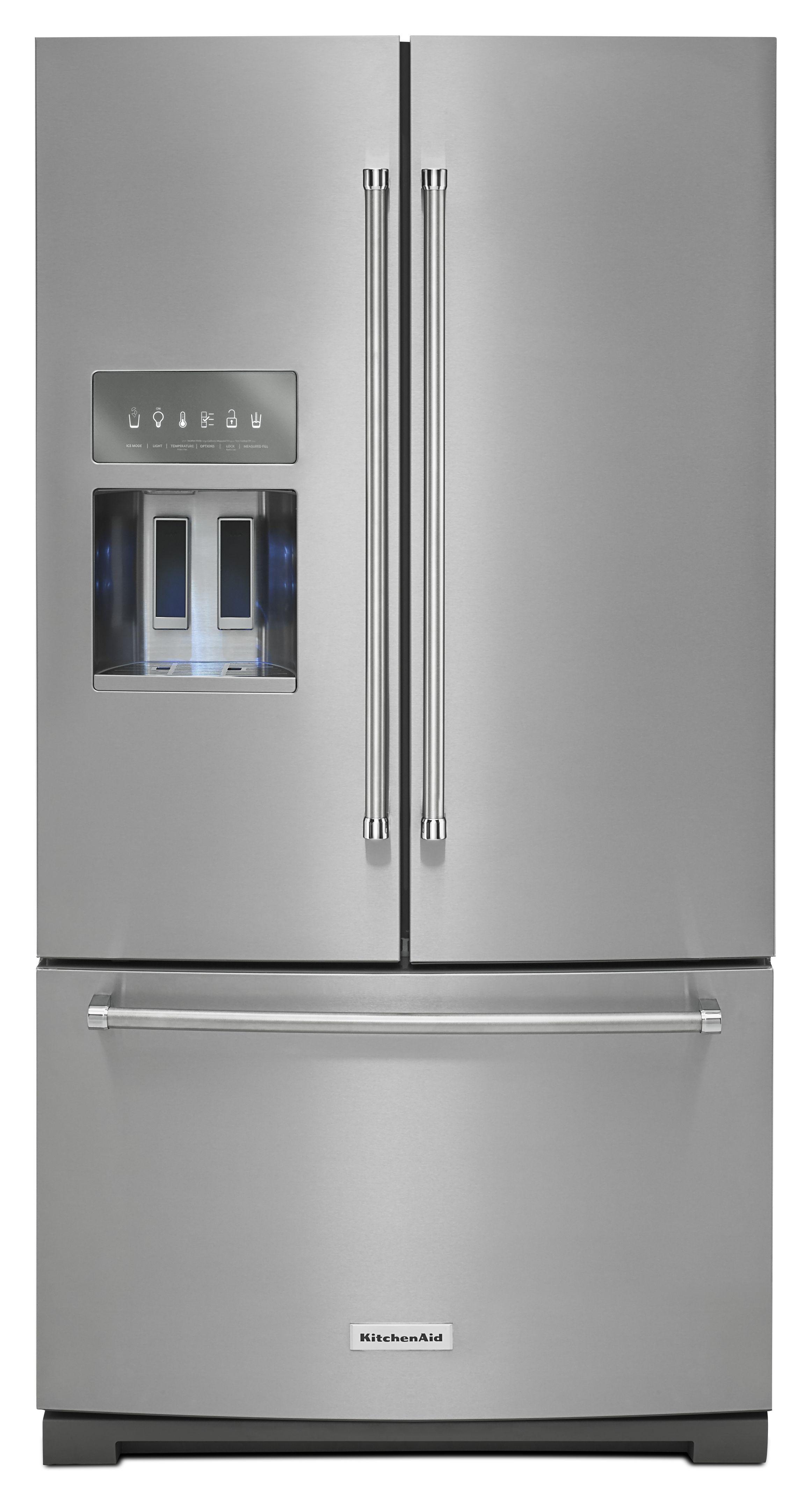 Kitchenaid 29 Cu Ft French Door Refrigerator Stainless Steel Krff707ess