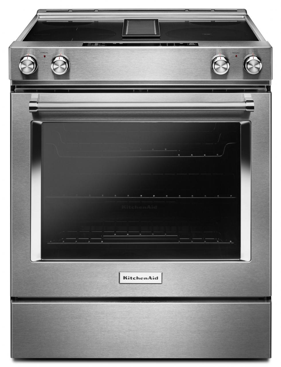 Kitchenaid 30 Slide In Electric Downdraft Range Stainless Steel Kseg950ess