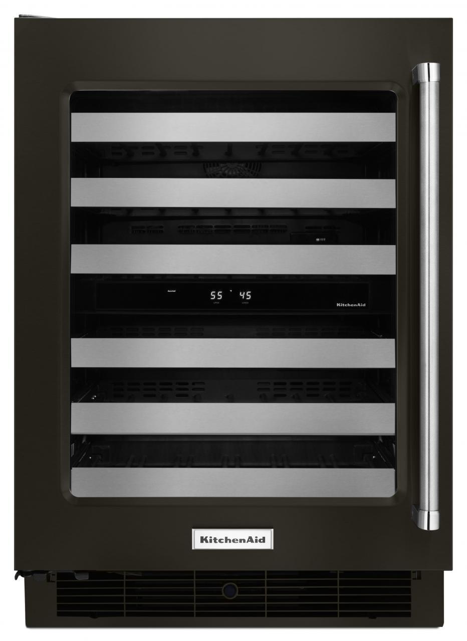 KitchenAid® Black 24  Wine Cellar-Black On Stainless-KUWL304EBS & kuwl304ebs.jpg