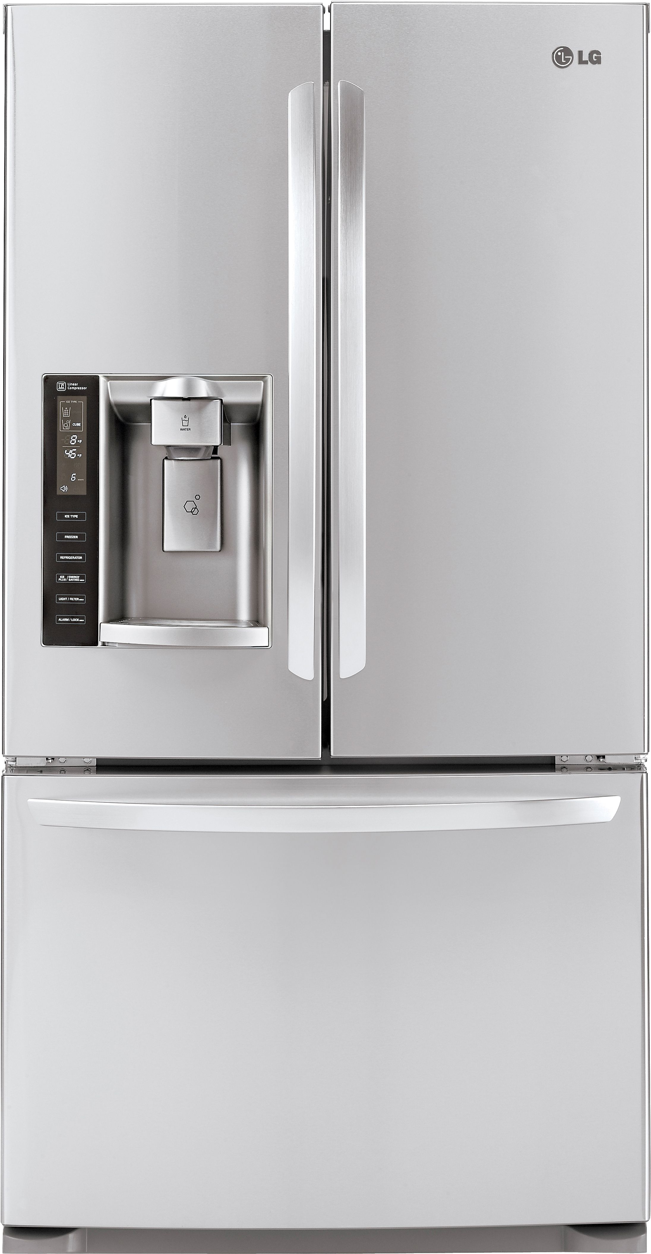 Lg 205 Cu Ft Counter Depth French Door Refrigerator Stainless