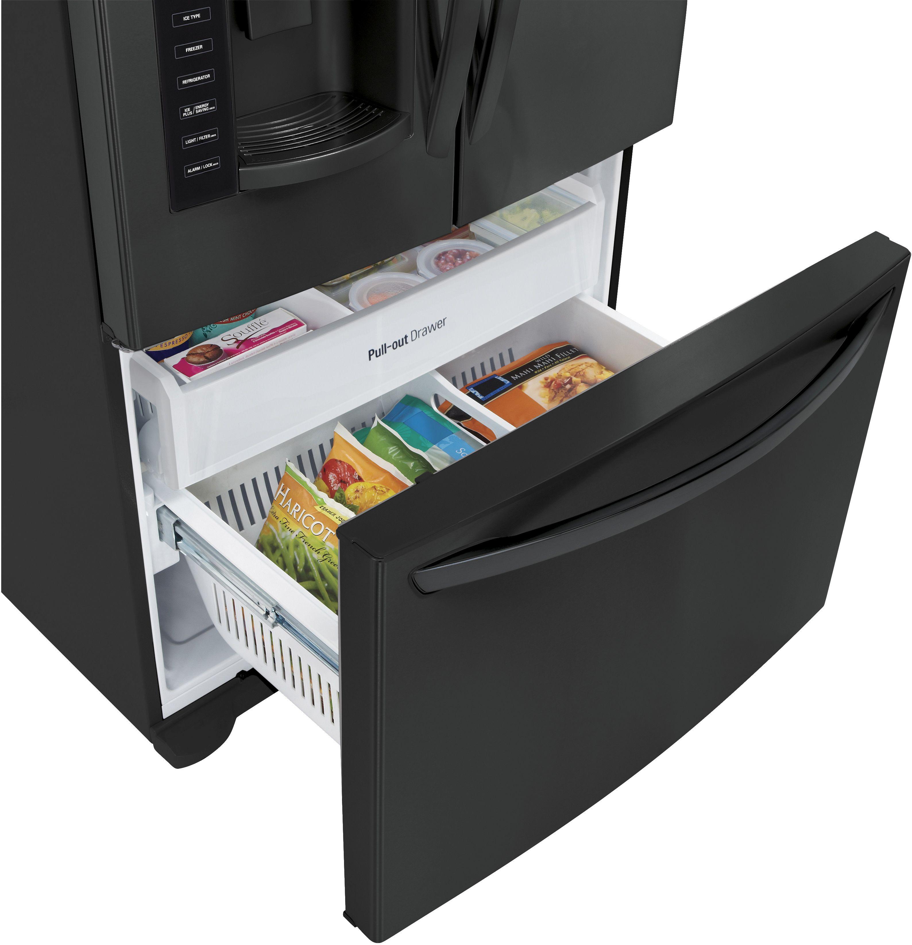 Our catalog lg 25 cu ft french door refrigerator smooth black lfx25974sb rubansaba