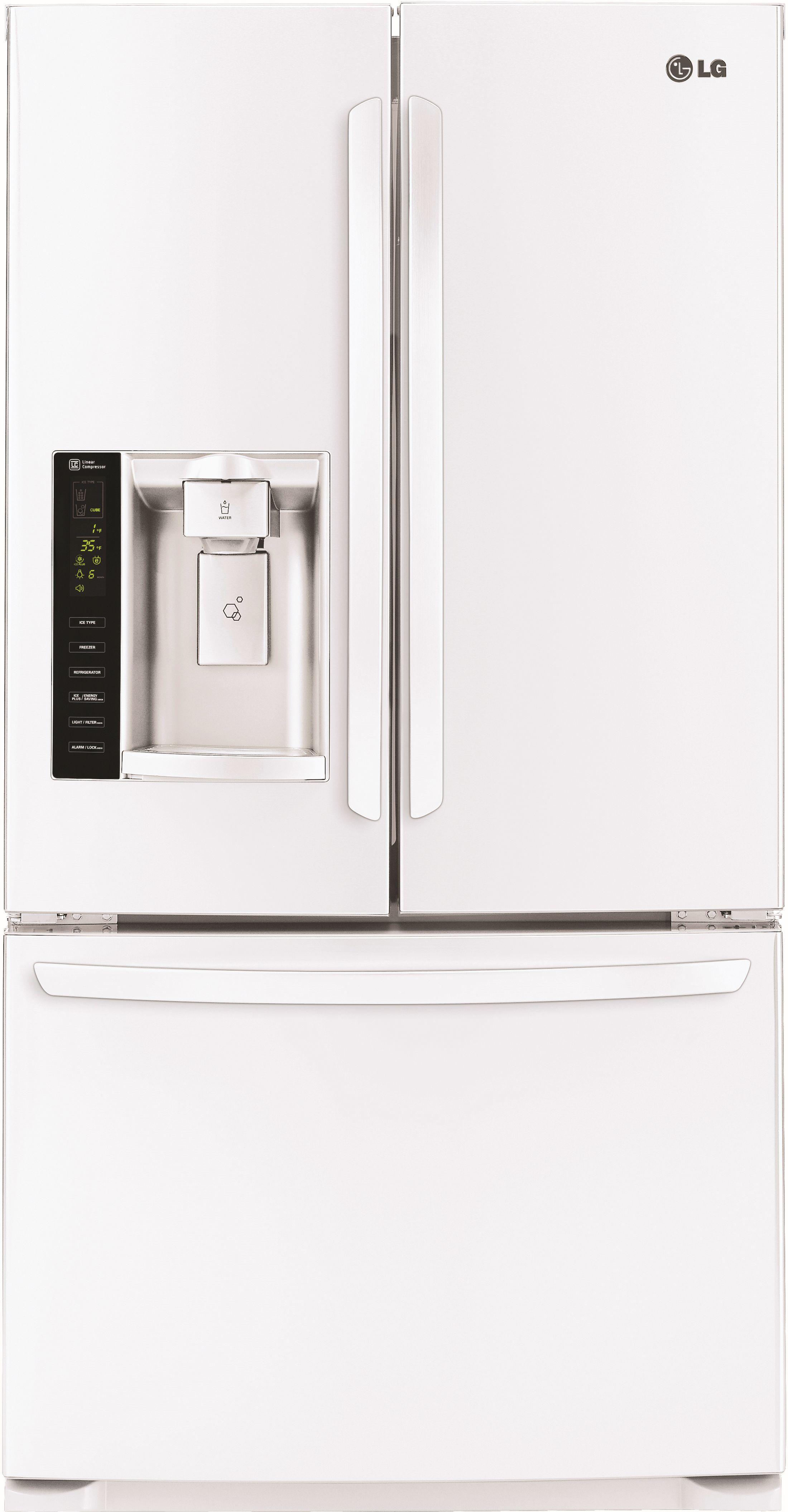 25 cu ft french door refrigerator smooth white lfx25974sw lg 25 cu ft french door refrigerator smooth white lfx25974sw rubansaba