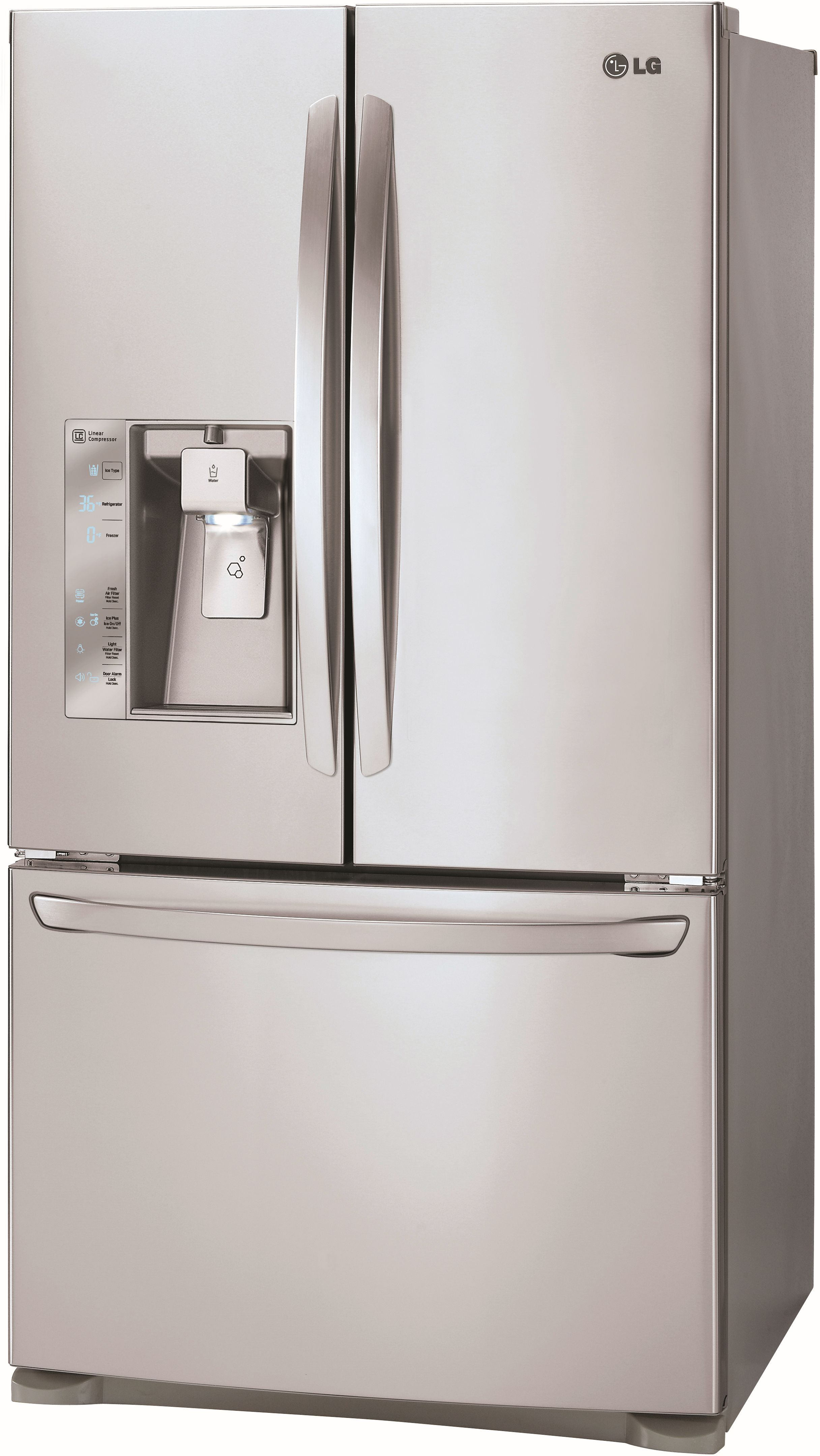 LG 24 Cu. Ft. French Door Refrigerator Stainless Steel LFXC24726S