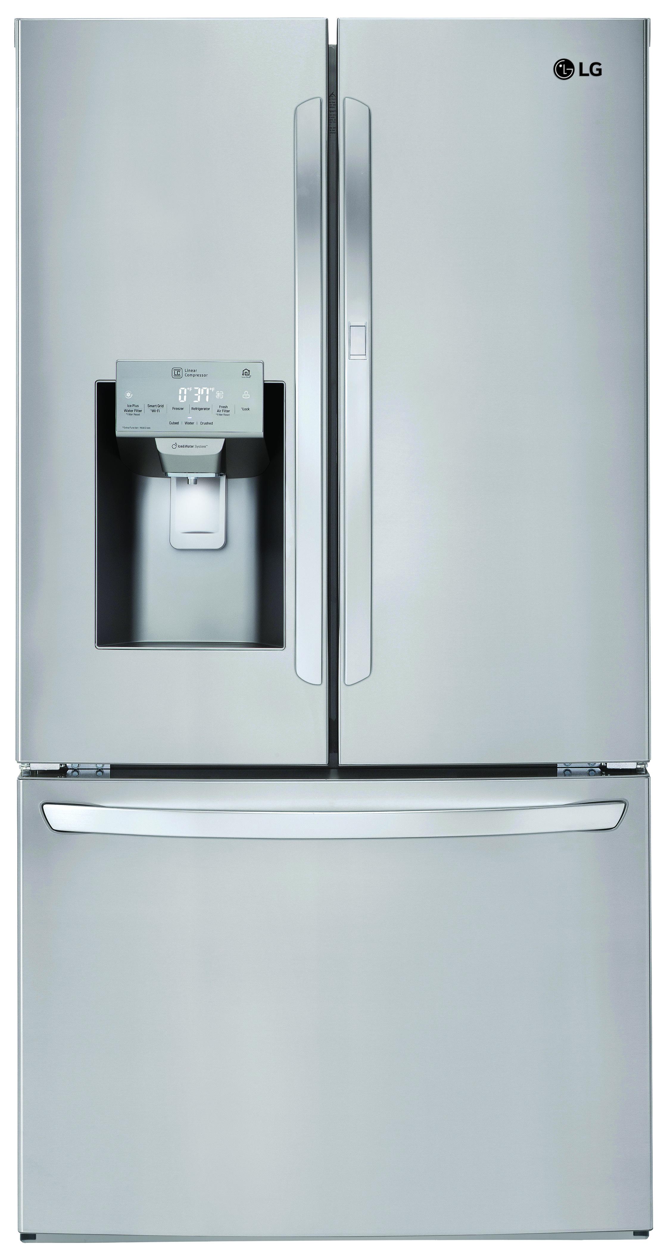 Ft. 3 Door French Door Refrigerator Stainless Steel  ...