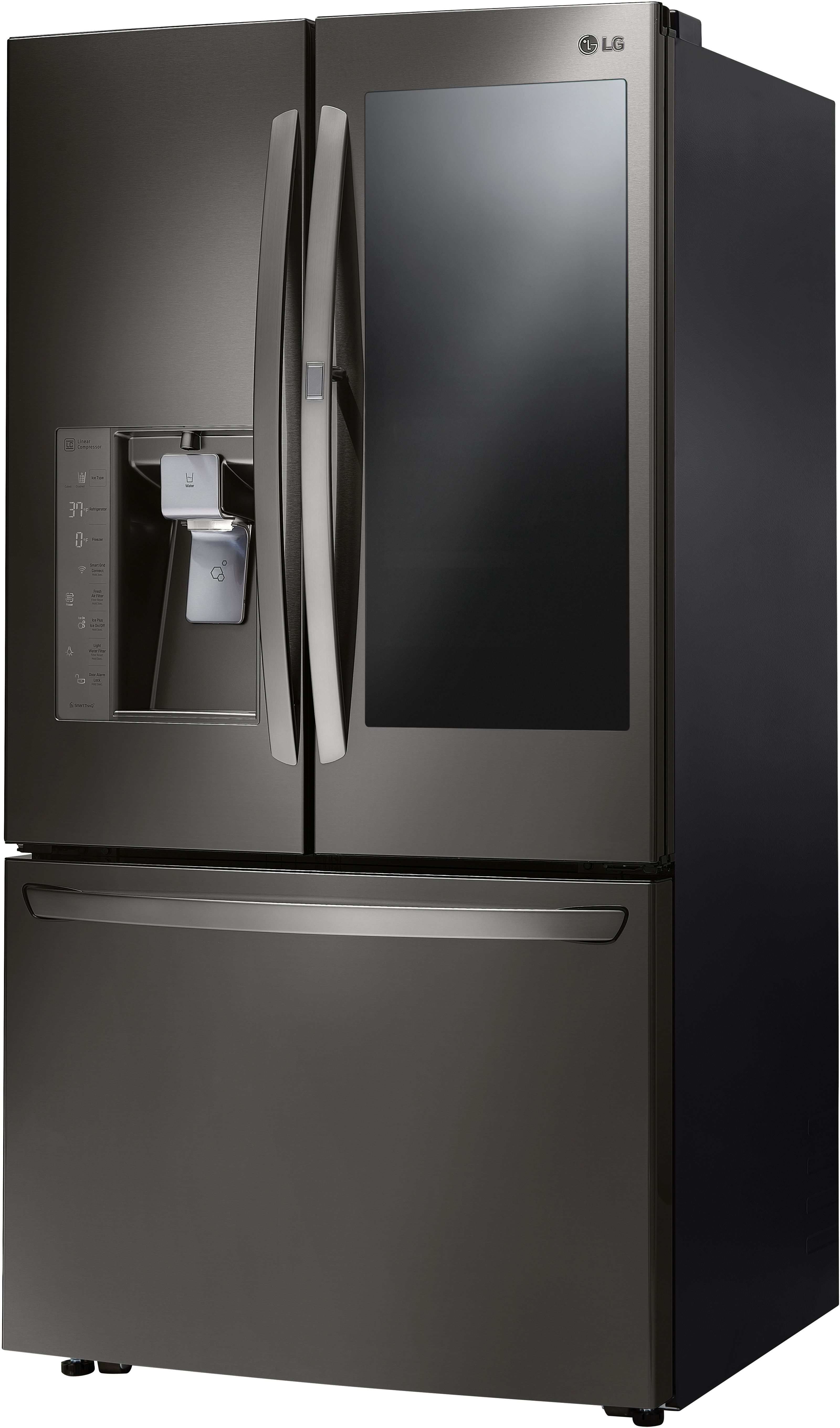 LG 29 6 Cu  Ft  Black Stainless Steel French Door