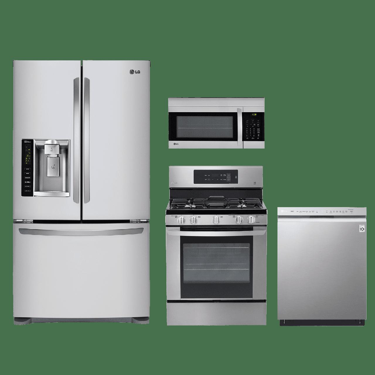 Superieur LG 4 Piece Kitchen Package Stainless Steel LGKITLRG3061ST