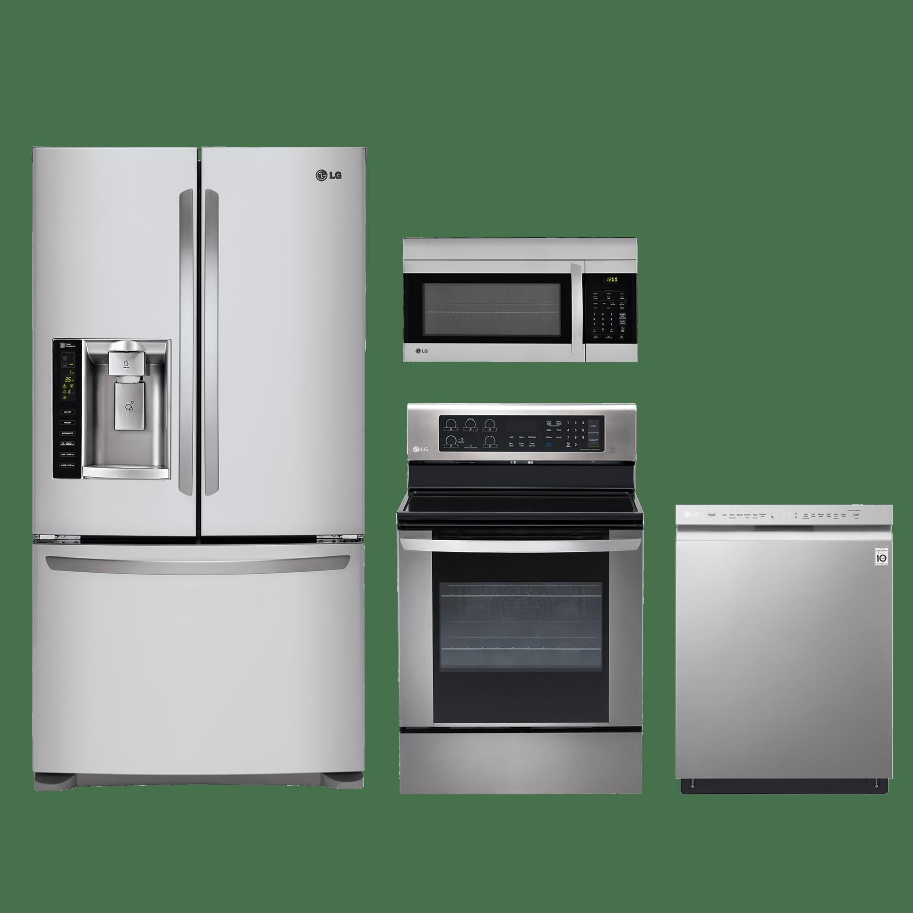 lg 4 piece kitchen package stainless steel kitchen appliance packages  rh   bargainsupplyappliance com