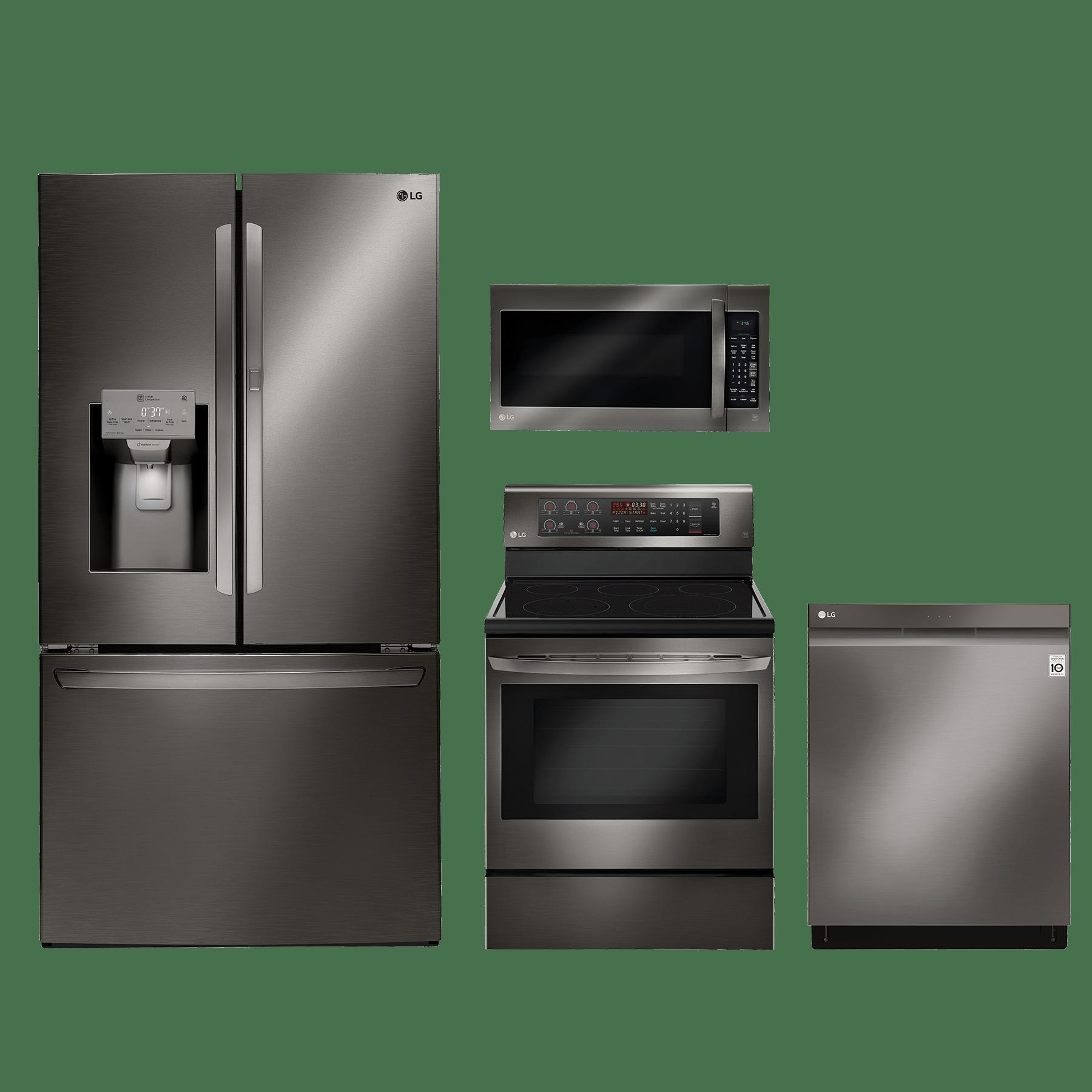 lg 4 piece kitchen package black stainless steel kitchen appliance packages  rh   bargainsupplyappliance com