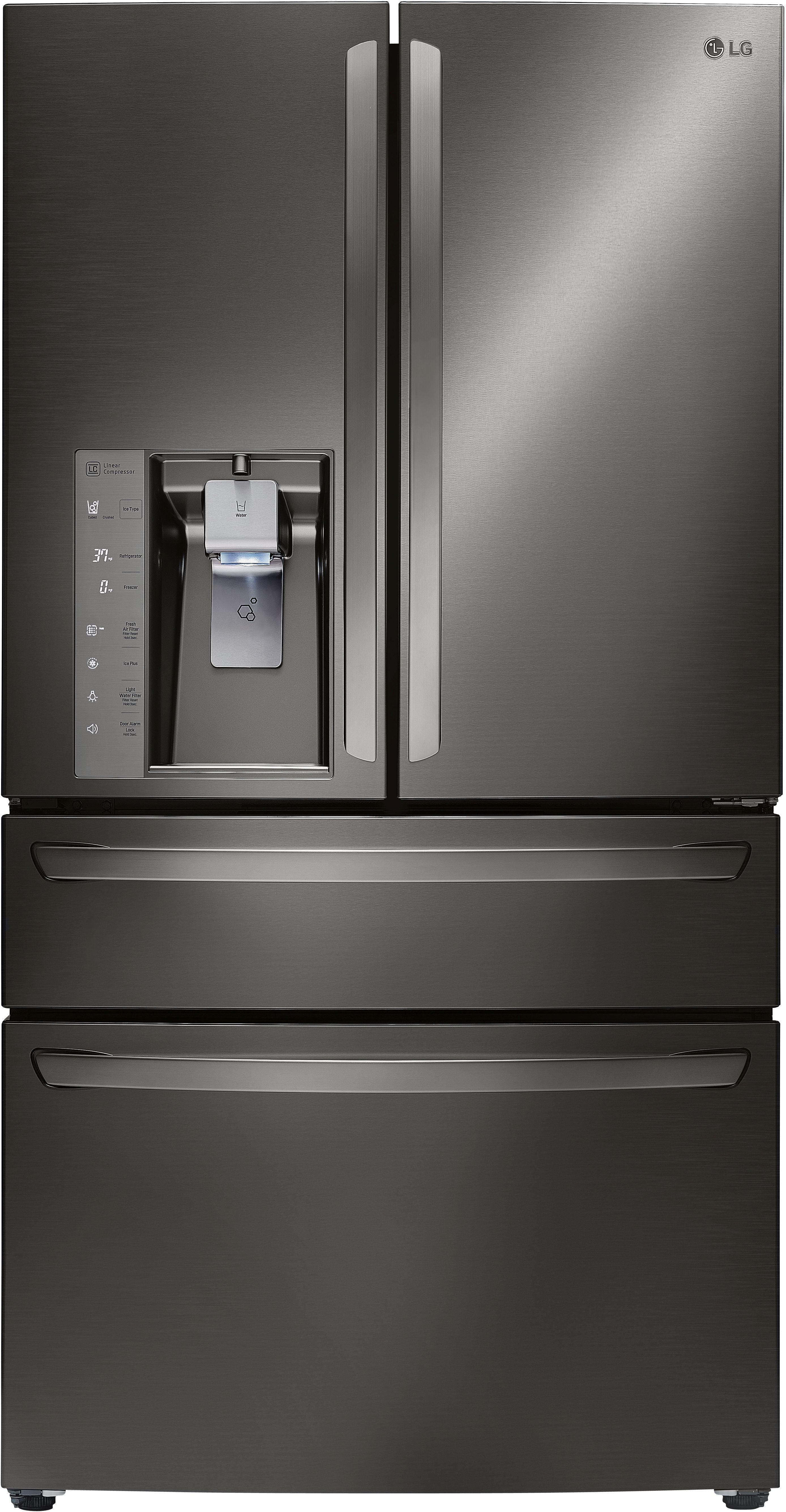 LG 23 Cu. Ft. 4 Door French Door Refrigerator Black Stainless Steel