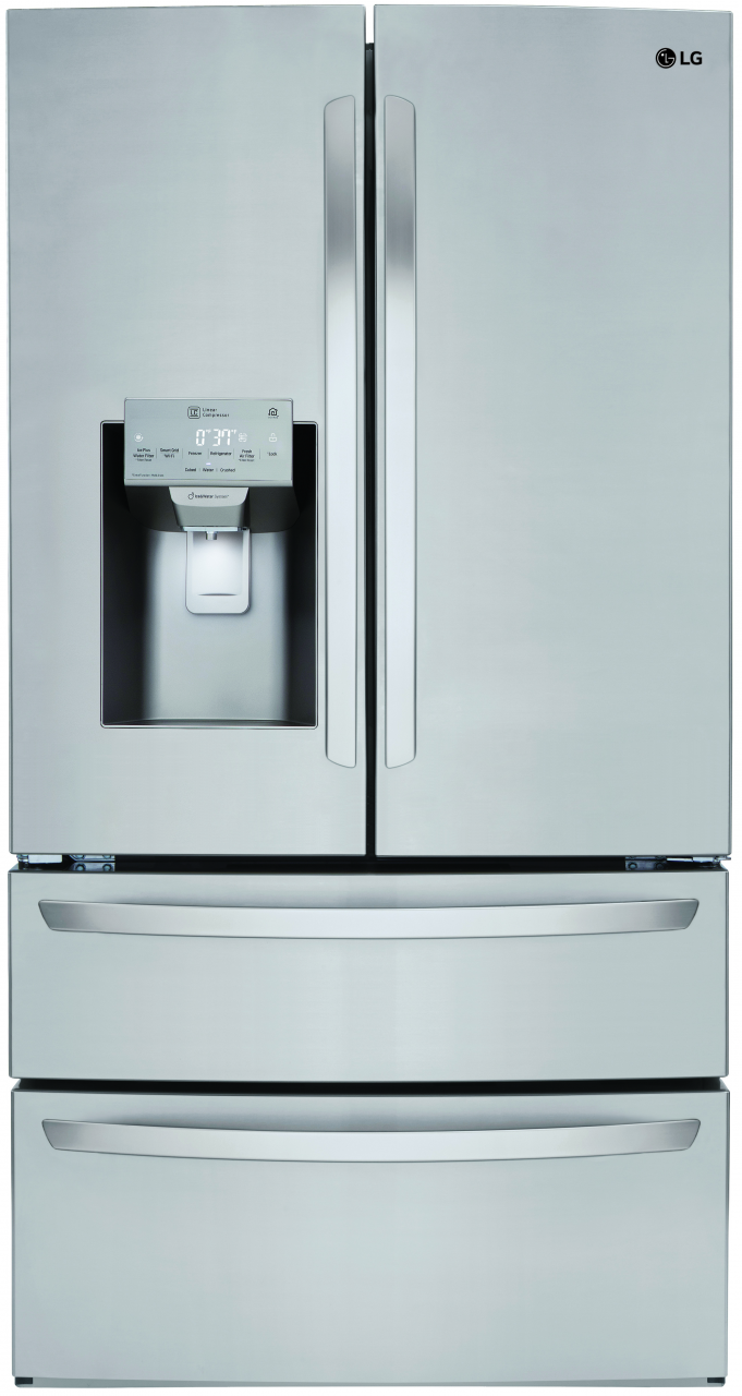 Lg 278 Cu Ft 4 Door French Door Refrigerator Stainless Steel
