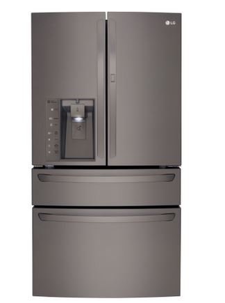 LG 30.0 Cu. Ft. French Door Refrigerator Black Stainless Steel LMXS30776D