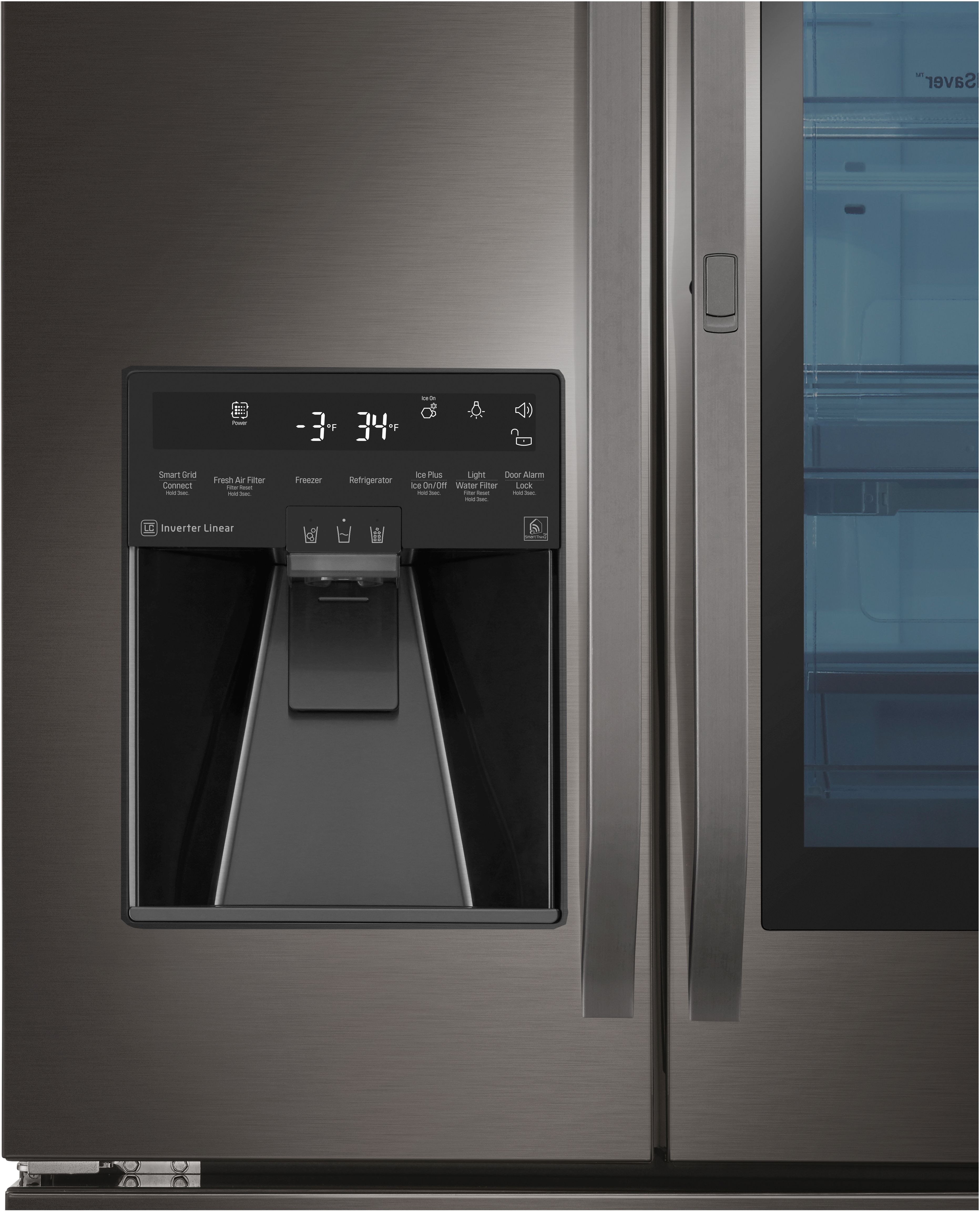 LG 23 5 Cu  Ft  Black Stainless Steel Counter Depth French