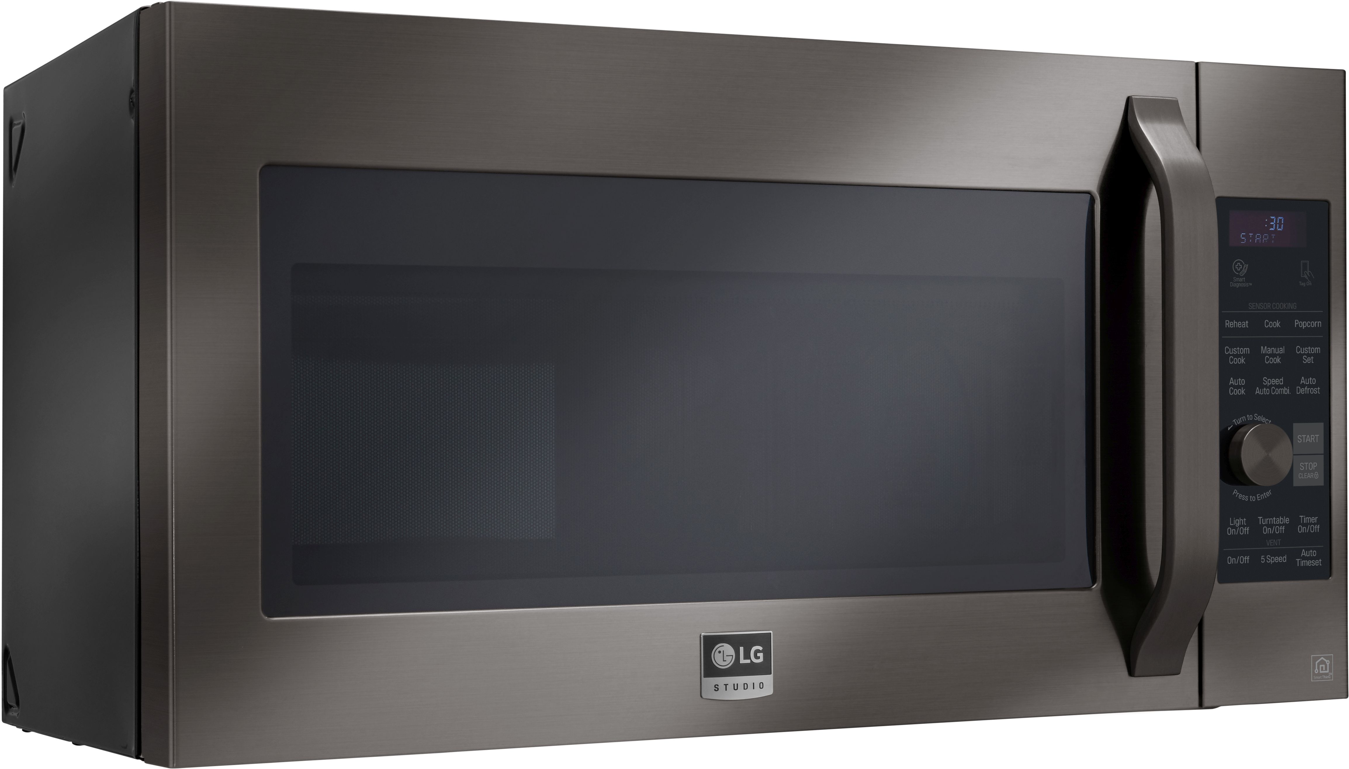 LG Over The Range Microwave-Black Stainless Steel-LSMC3089BD