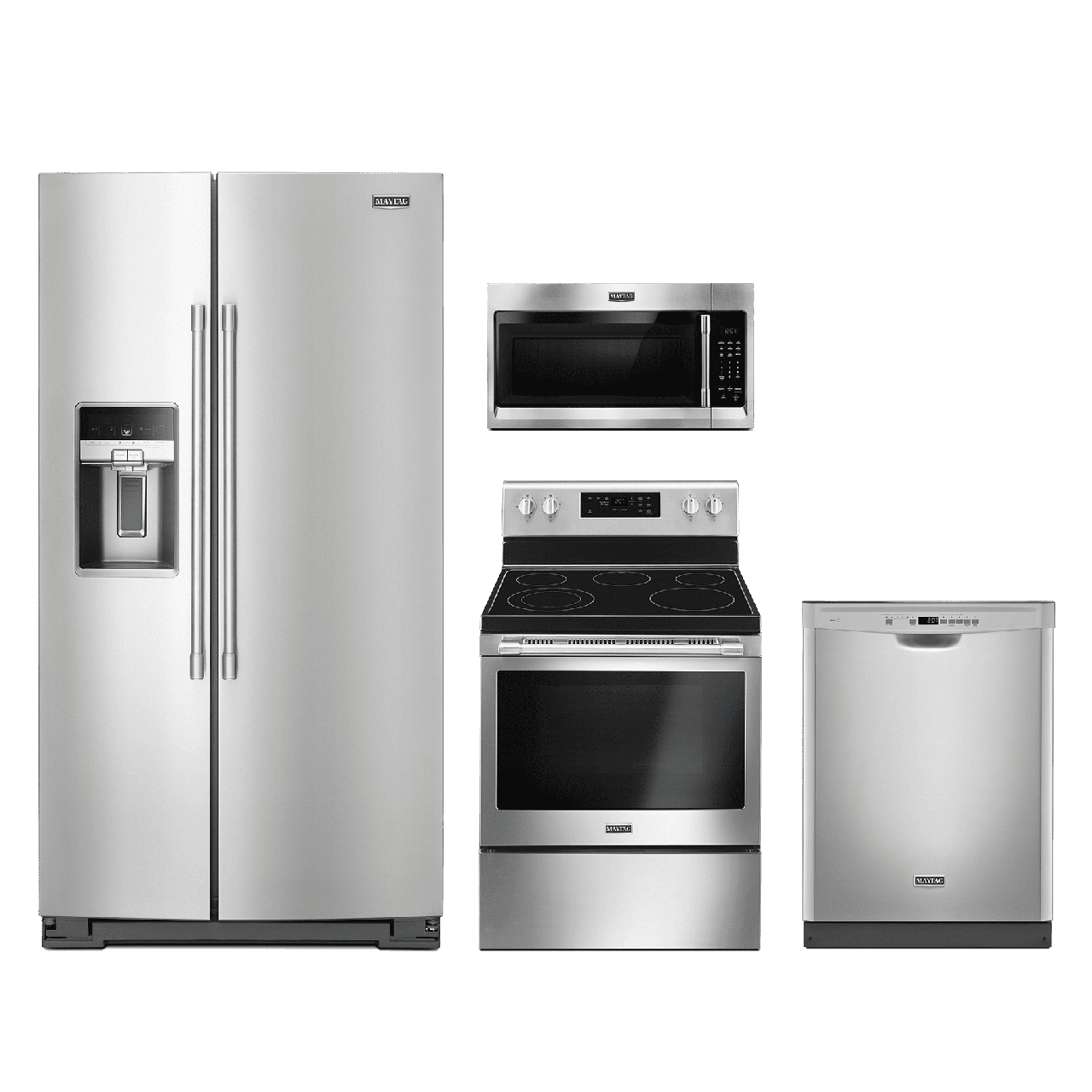 Kitchenaid 4 Piece Kitchen Appliance Package With Electric: Maytag® 4 Piece Kitchen Package-Fingerprint Resistant
