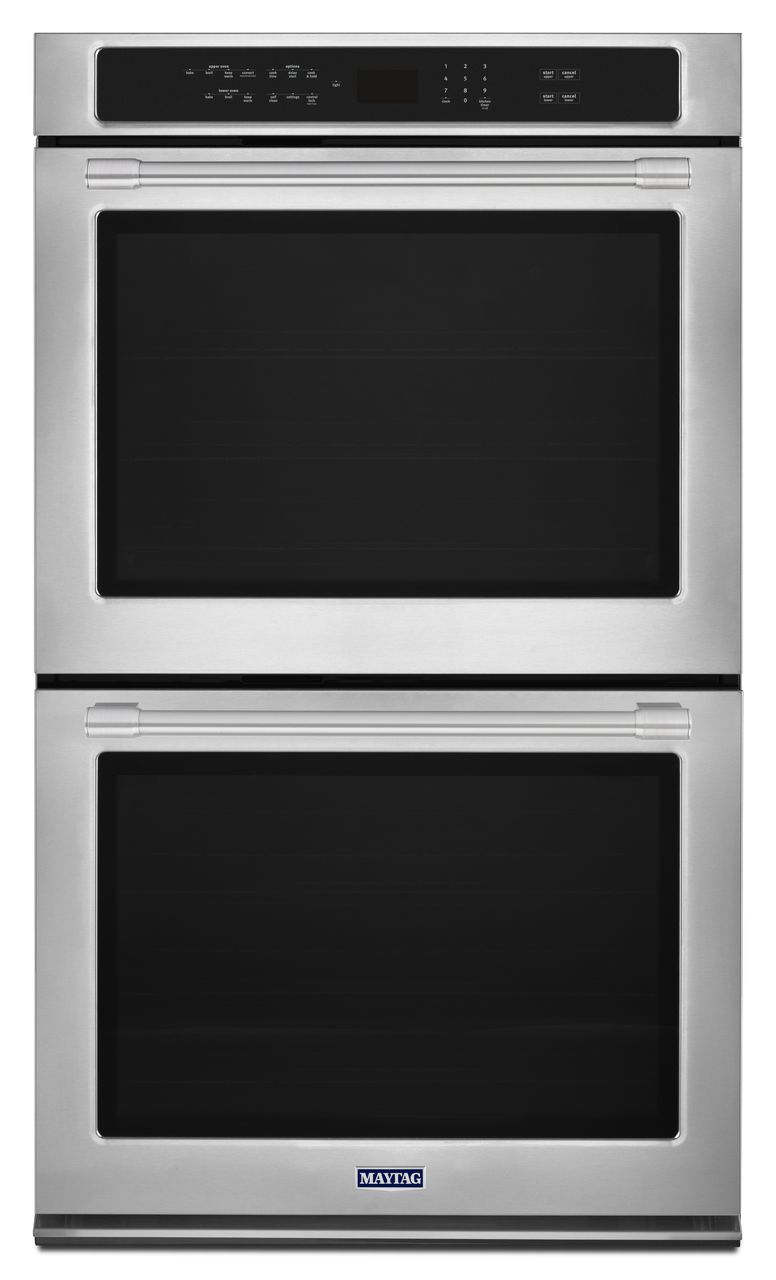 Maytag 27 Fingerprint Resistant Stainless Steel Electric Double Oven Built In Mew9627fz
