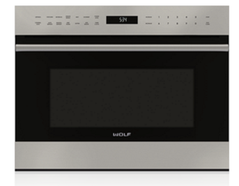 Wolf 24 E Series Transitional Built In Microwave Oven Stainless Steel Mdd24te