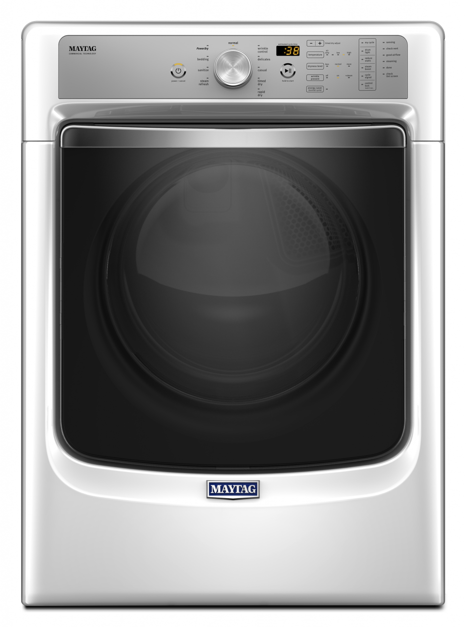 Maytag® Front Load Electric Dryer-White-MED8200FW