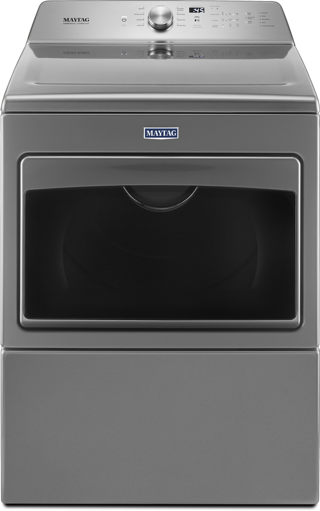 Maytag 174 7 4 Cu Ft Metallic Slate Front Load Gas Dryer