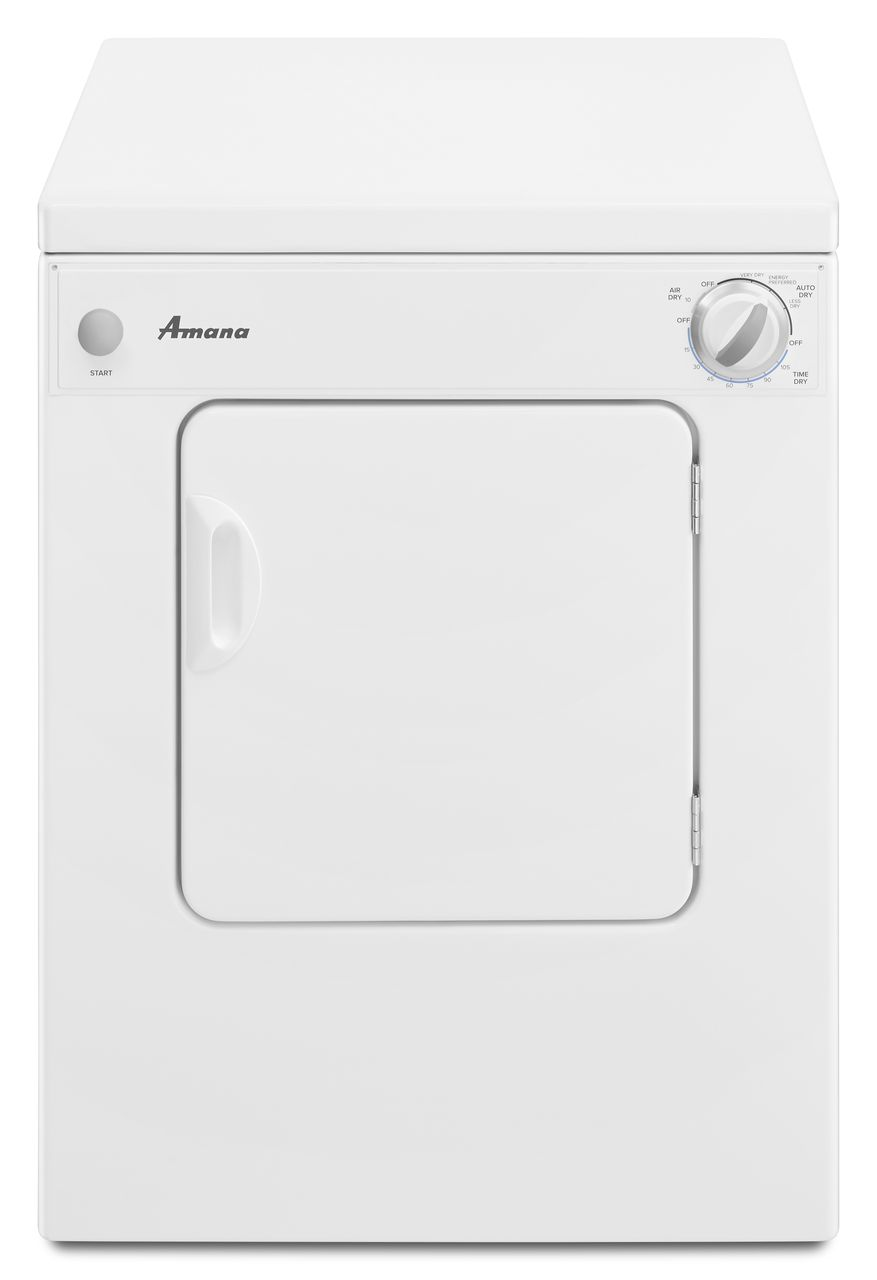 Electric dryer amana front load compact electric dryer white nec3120fw sciox Choice Image