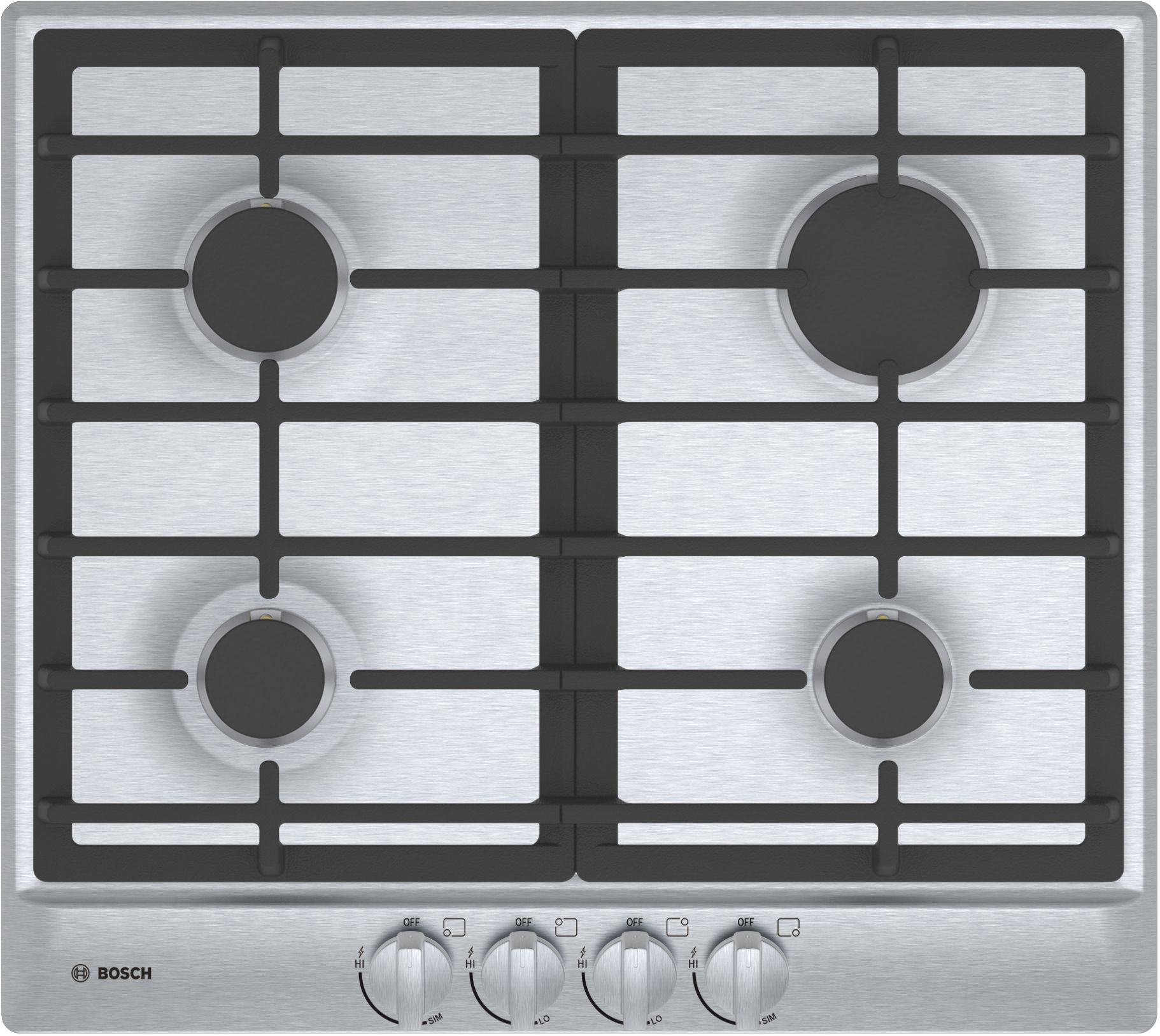 """Bosch 500 Series 24"""" Gas Cooktop- Stainless Steel-NGM5456UC"""