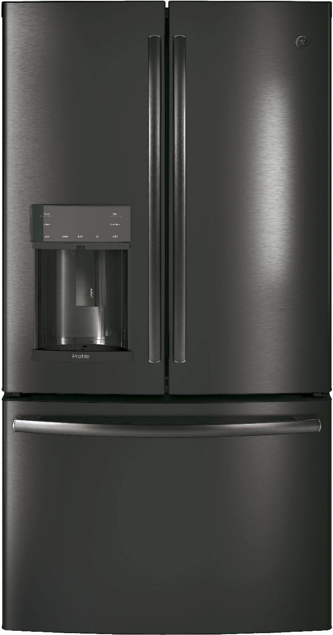 Refrigeration ge profile series 278 cu ft french door refrigerator black stainless steel rubansaba