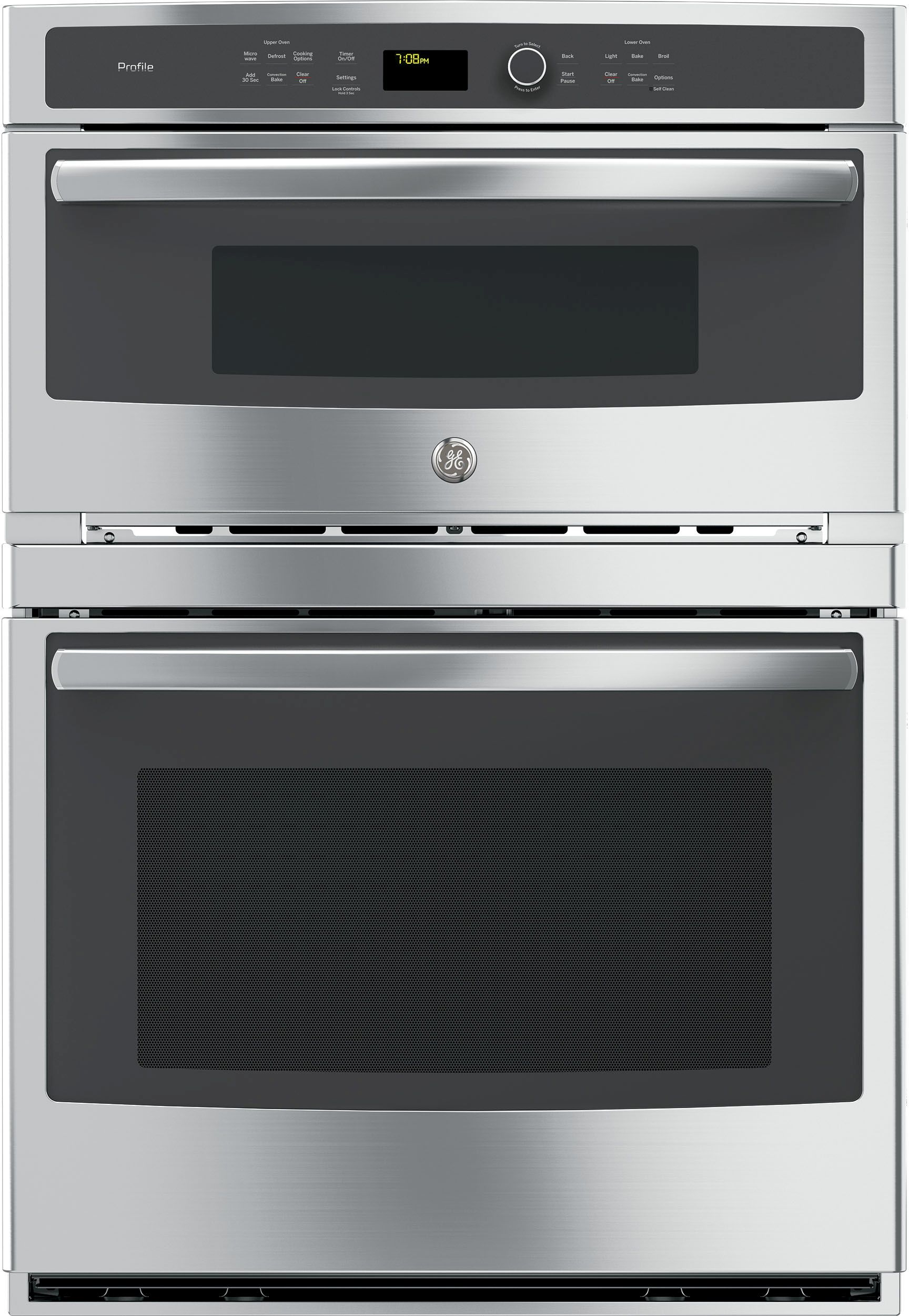 Ge Profile 30 Stainless Steel Electric Built In Combination Microwave Oven Pt7800shss