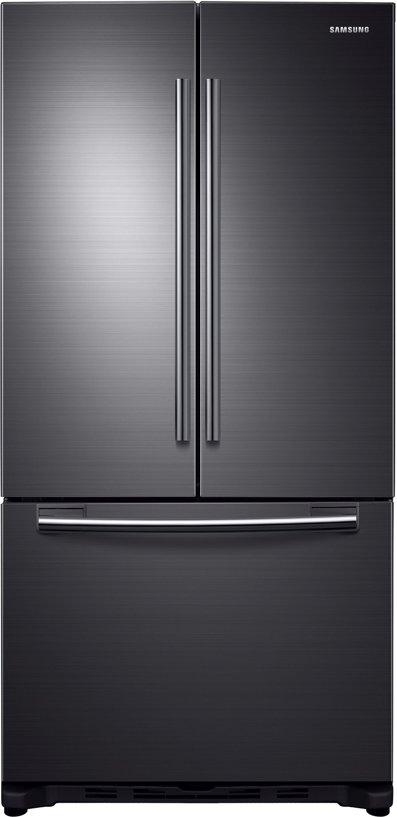 Ft. Counter Depth French Door Refrigerator Fingerprint Resistant Black  Stainless ...
