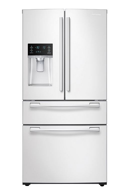 Ft. 4 Door French Door Refrigerator White RF25HMEDBWW ...