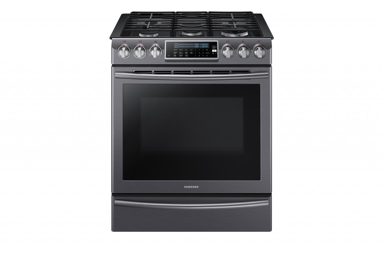 "30"" Slide In Gas Range Black Stainless Steel NX58K9500WG"