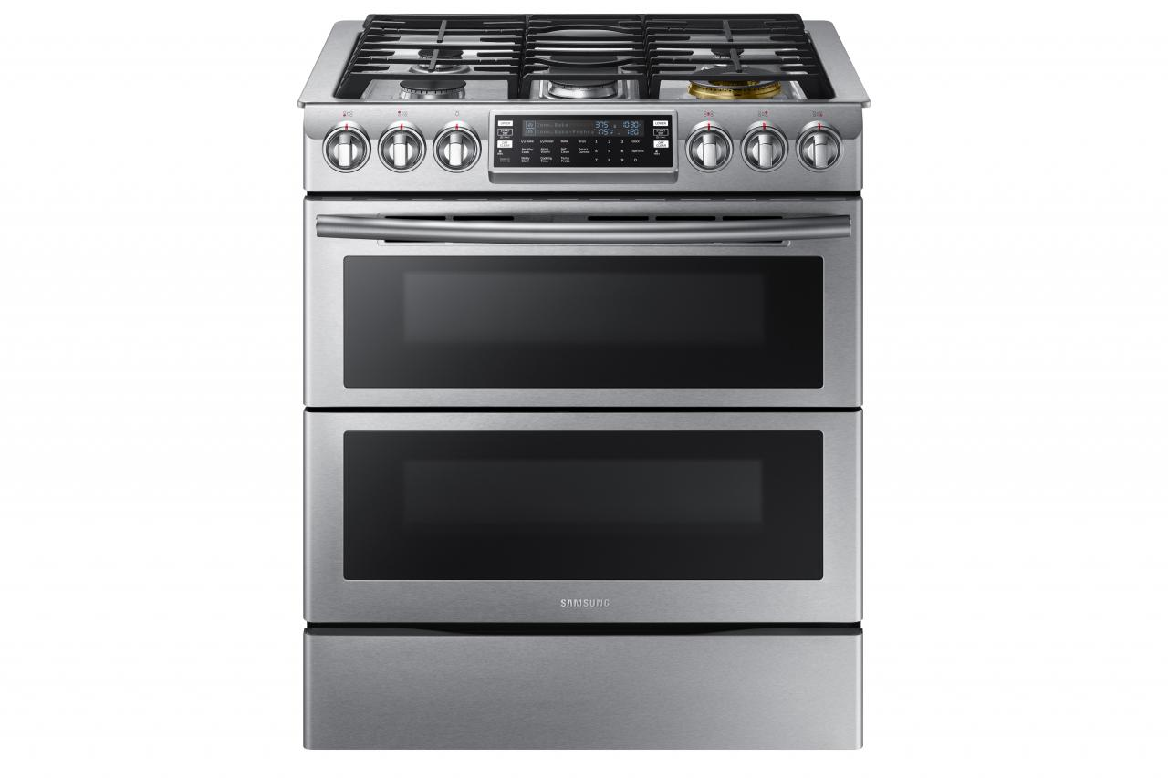 Samsung 30 Slide In Gas Range Nx58k9850s Appliances Hdtvs