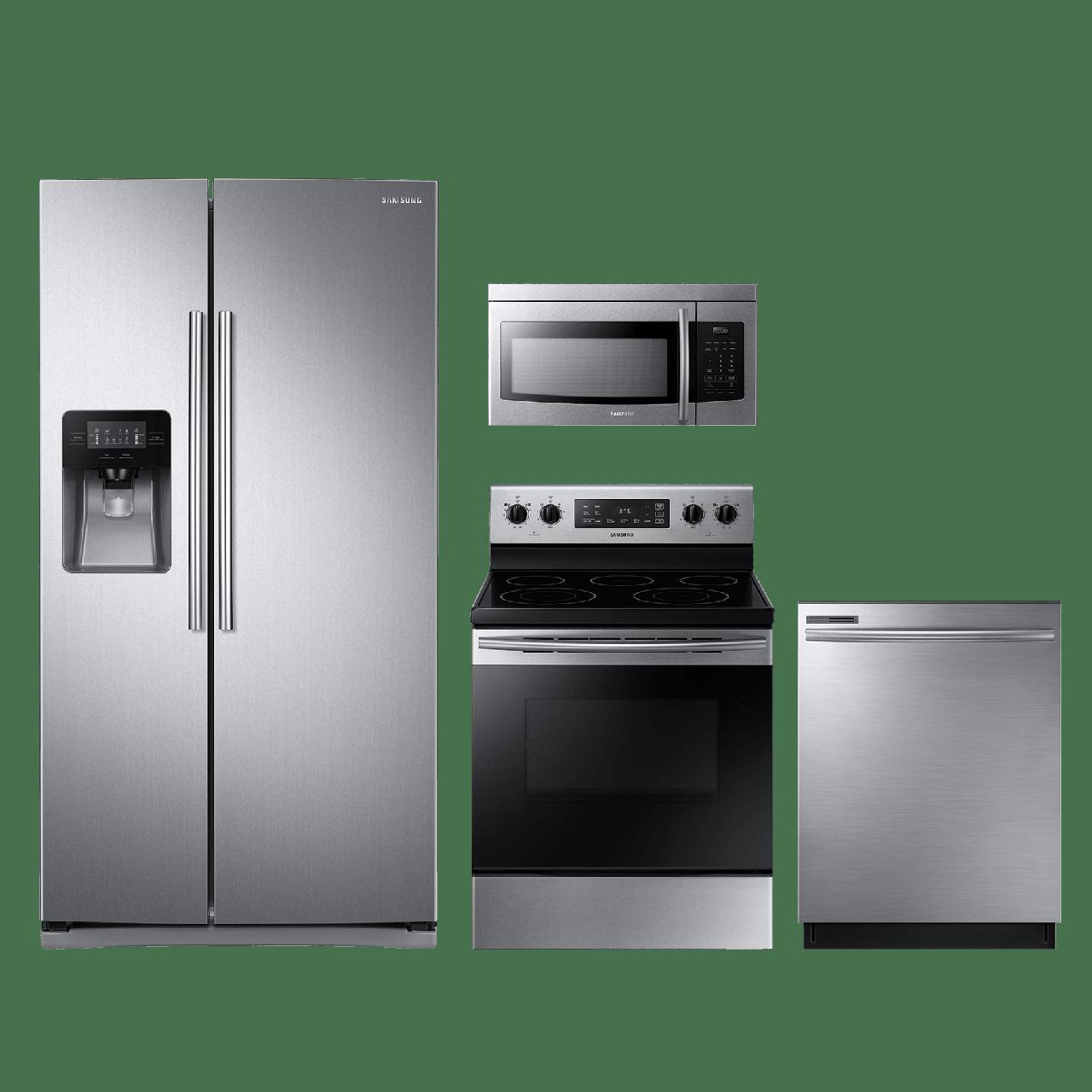 Samsung 4 Piece Kitchen Package-Stainless Steel