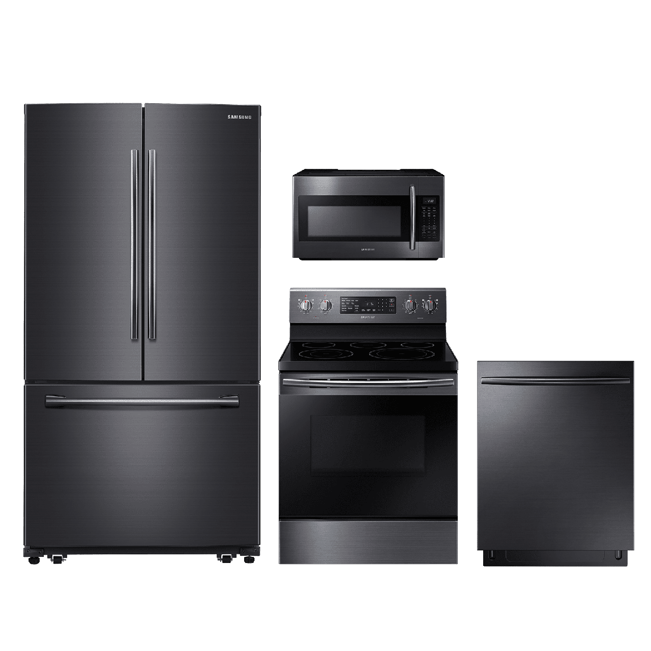 4 Piece Kitchen Package Black Stainless Steel SAKITNE59M4320SG