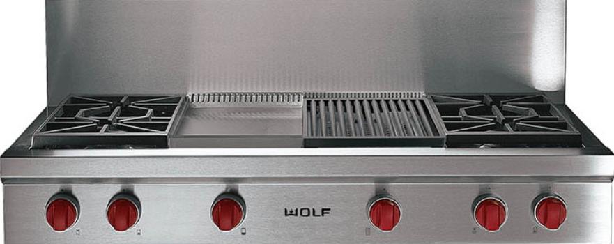 Wolf 48 Pro Style Gas Rangetop Srt484cg