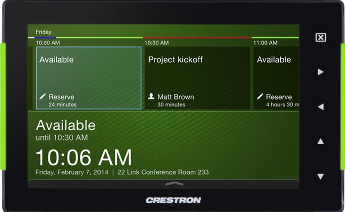 crestron 7 u0026quot  room scheduling touch screen