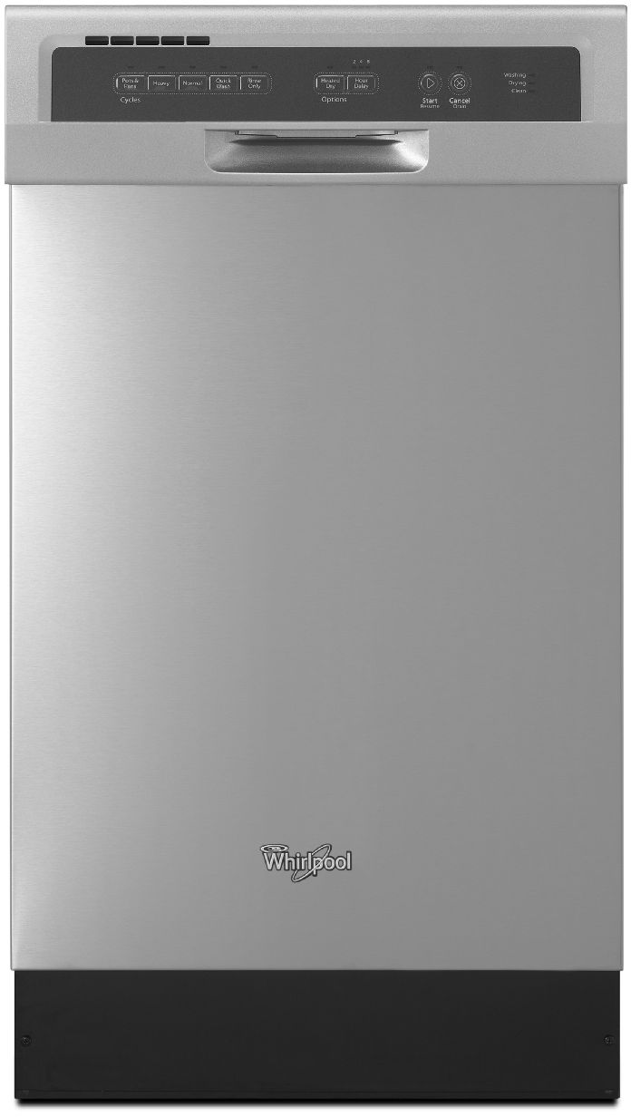 Whirlpool 17 50 built in compact tall tub dishwasher monochromatic stainless steel wdf518safm