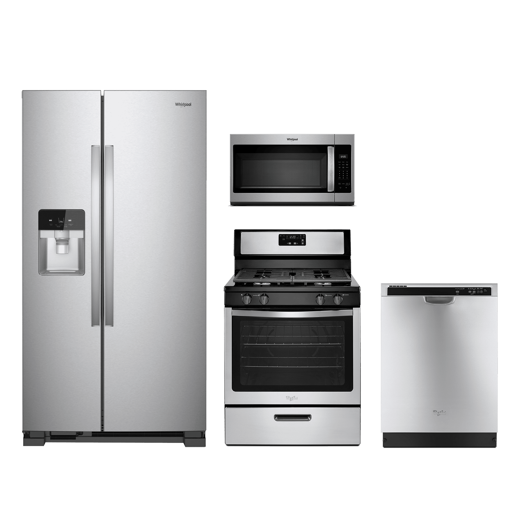 Whirlpool® 4 Piece Kitchen Package Stainless Steel WHKITWFG320M0BS