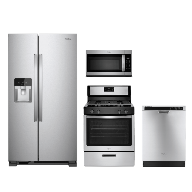 All Cape Appliance South Yarmouth: Whirlpool® 4 Piece Kitchen Package-Stainless Steel