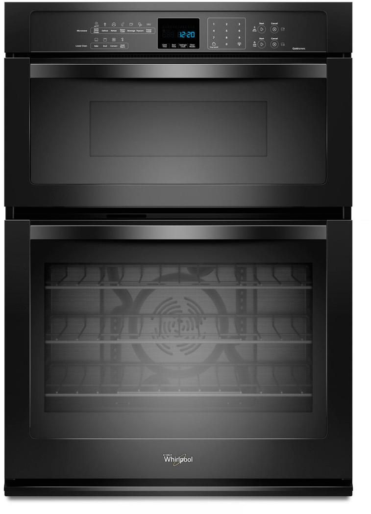 Whirlpool Gold 30 Electric Oven Microwave Combo Built In Black