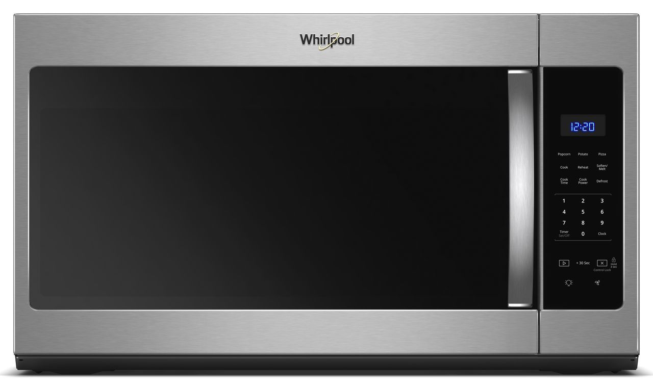 Whirlpool Over The Range Microwave Black On Stainless Wmh31017hs