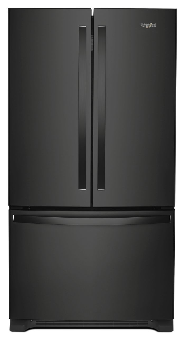 Whirlpool® 20 Cu. Ft. Wide Counter Depth French Door Refrigerator Black