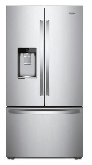 Whirlpool® 24 Cu. Ft. Counter Depth French Door Refrigerator Monochromatic  Stainless Steel