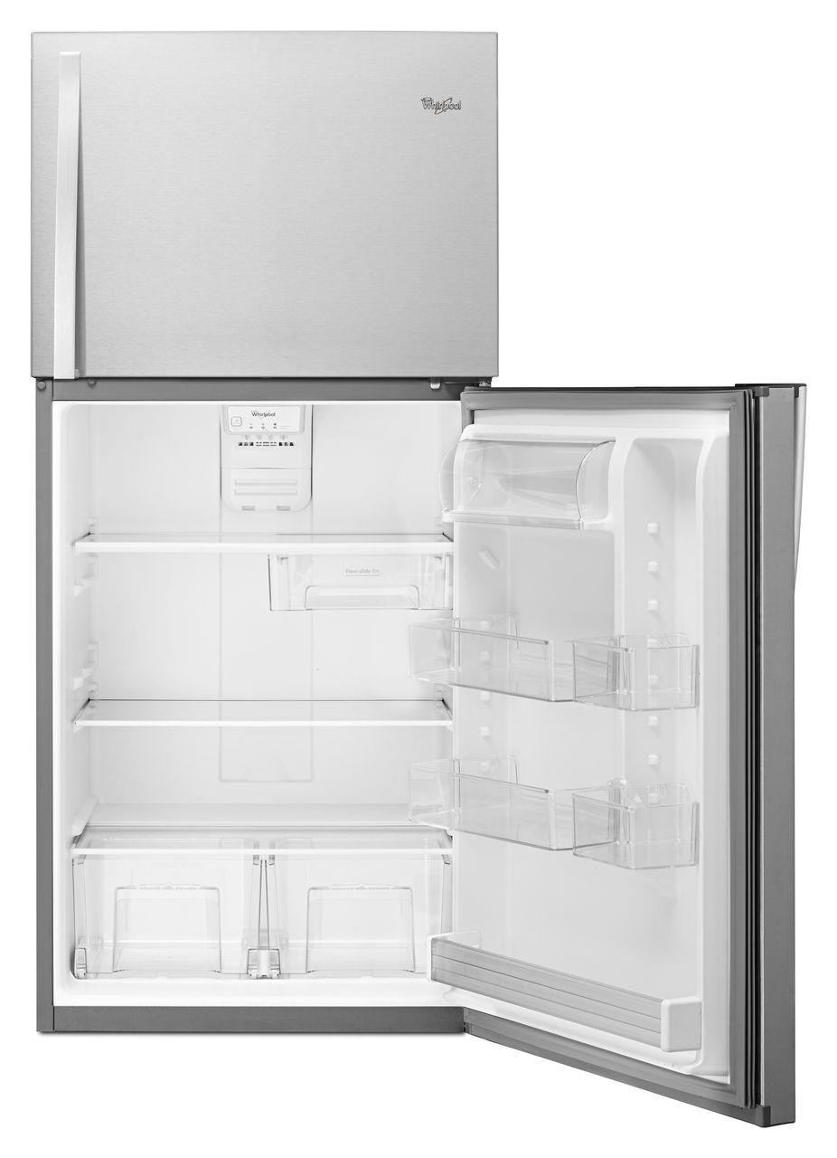 Ft top freezer refrigerator monochromatic stainless steel wrt519szdm