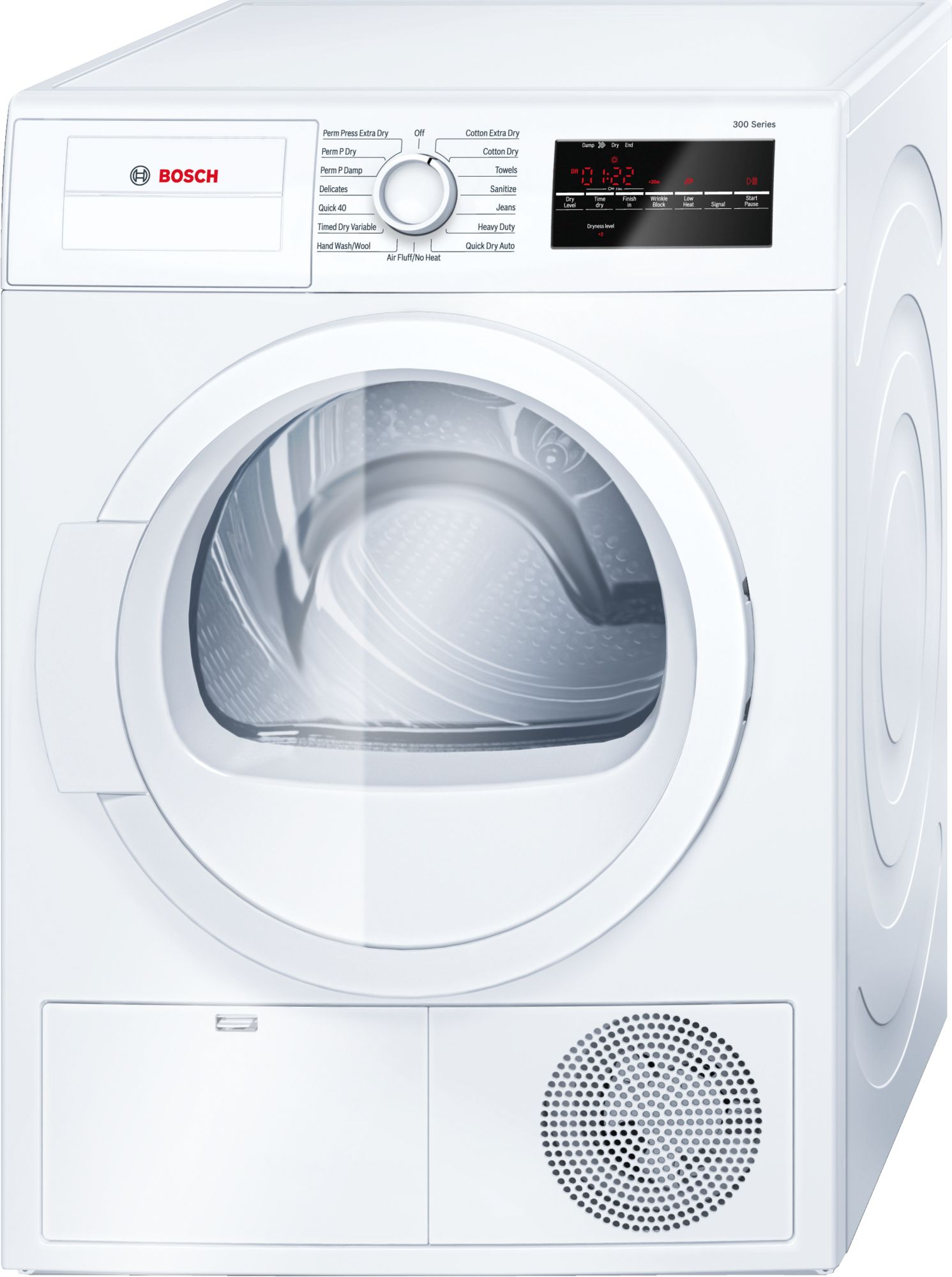 Electric dryer bosch 300 series front load electric dryer white wtg86400uc sciox Choice Image