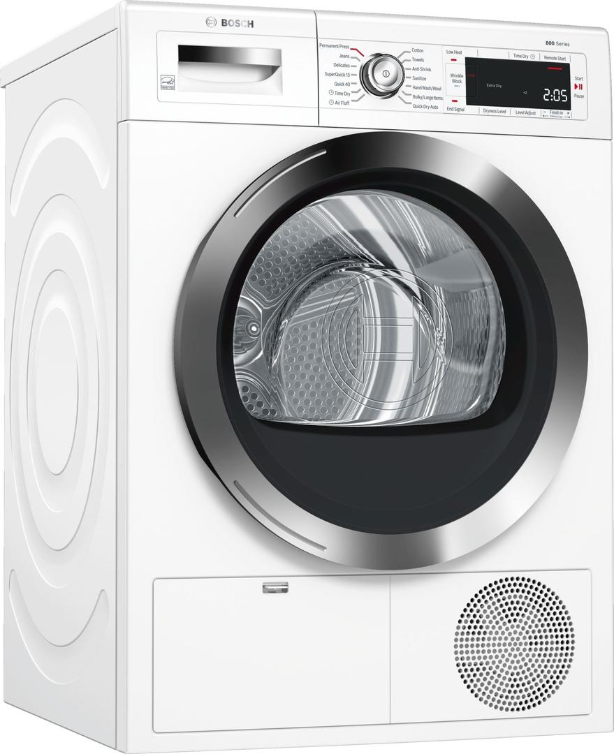 Electric dryer bosch 800 series front load electric dryer white wtg865h2uc sciox Choice Image