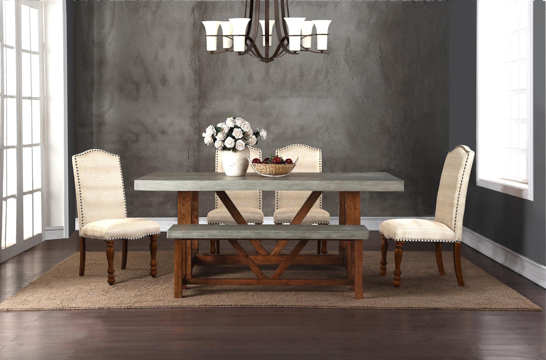 Legends Furniture Bohemian Cement Standard Bench Zboh 8016